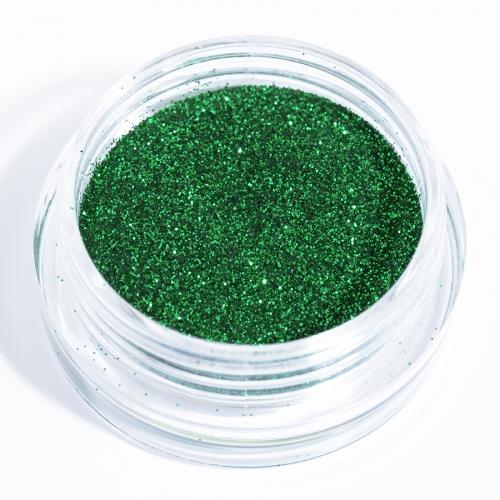 Блестки зеленые для дизайна ногтей