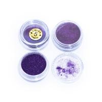 Блестки фиолетовые для дизайна ногтей