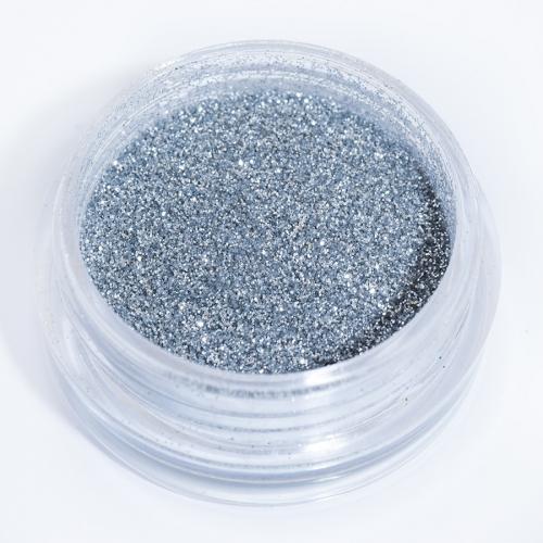 Блестки серебряные для дизайна ногтей