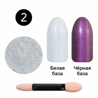 Кристалл Nails, Втирка для ногтей + аппликатор, Жемчужная, №02 розовый жемчуг