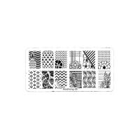 Трафарет металлический для стемпинга средний прямоугольный - Свежесть фруктов (в инд. уп.)(08)