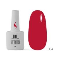 Гель-лак TNL 8 Чувств №084 - насыщенный красный  (10 мл.)