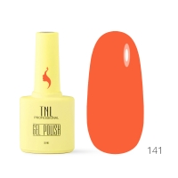 Гель-лак TNL 8 Чувств №141 - оранжевая глазурь (10 мл.)