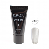 Elpaza acryl gel UV/LED Clear №001 прозрачный
