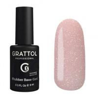 База Каучуковая для гель-лака Grattol Rubber Base Glitter 6