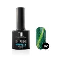 Гель-лак TNL - magnet lux №02 - травяной с блестками