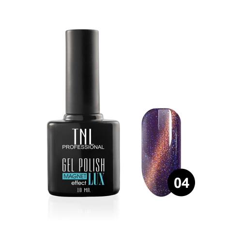 Гель-лак TNL - magnet lux №04 - баклажановый с блестками