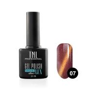 Гель-лак TNL - magnet lux №07 - малиново-вишневый с блестками