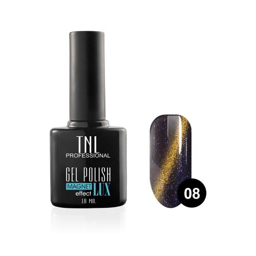 Гель-лак TNL - magnet lux №08 - глубокий темно-лиловый с блестками