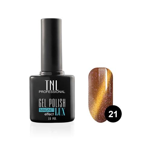 Гель-лак TNL - magnet lux №21 - кирпично-коричневый с блестками