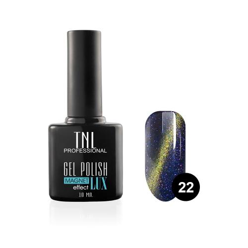 Гель-лак TNL - magnet lux №22 - синяя ночь с блестками