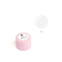 ADRICOCO, Гель-желе для моделирования ногтей №01 камуфлирующий белый (10 мл.)