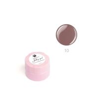 ADRICOCO, Гель-желе для моделирования ногтей №10 камуфлирующий теплый коричневый (10 мл.)