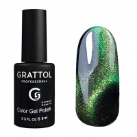 Гель-лак, Grattol Color Gel Polish 9D Cat Eye 01, 9 мл