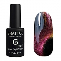 Гель-лак, Grattol Color Gel Polish 9D Cat Eye 04, 9 мл