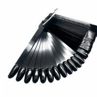GRATTOL, Палитра веер на кольце, миндаль, черная, 50 типс