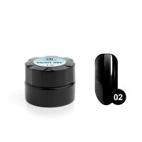 TNL, Гель-краска для дизайна ногтей №02 черная, 6мл