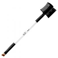 IRISK professional, Кисть макияжная двухсторонняя, для бровей скошенная и щеточка-расческа Pearl