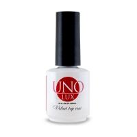 UNO Lux professional, Верхнее покрытие с бархатным эффектом Lux Velvet Top Coat, 15 мл
