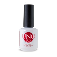 UNO Lux professional, Верхнее покрытие  High Gloss Top Coat, 15 мл