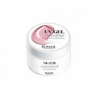 RUNAIL, Однофазный УФ-гель, Розовые небеса №3744 (30 гр)