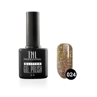 Гель-лак TNL - GLITTER №24 - Коричневый (10 мл.)