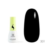 Гель-лак TNL 8 Чувств Mini №301 - черный (3.5 мл.)