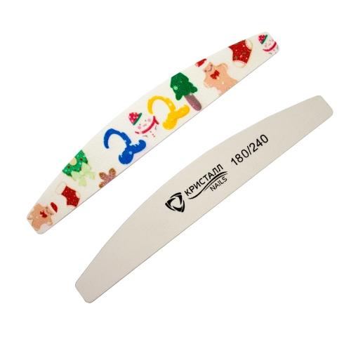Кристалл Nails, Пилка лодка №5 на деревянной основе 180/240 грит для маникюра купить в интернет-магазине | kristallnails.ru
