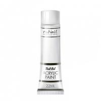 RuNail, Акриловая краска для нейл-арт, белый, 22 мл