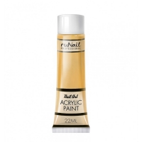 RuNail, Акриловая краска для нейл-арт, золотой, 22 мл