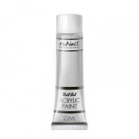 RuNail, Акриловая краска для нейл-арт, серебряный, 22 мл