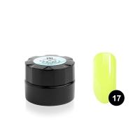 Гель-краска для тонких линий TNL Voile №17 паутинка (желтый неон), 6 мл.