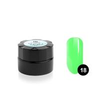 Гель-краска для тонких линий TNL Voile №18 паутинка (зеленый неон), 6 мл.