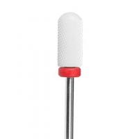 Irisk professional, Керамическая фреза Цилиндр закругленный с гладким торцом, красная