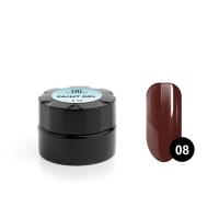 TNL, Гель-краска для дизайна ногтей №08 коричневая, 6 мл