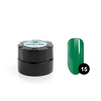 TNL, Гель-краска для дизайна ногтей №15 зеленый, 6 мл
