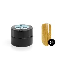 TNL, Гель-краска для дизайна ногтей №24 золото, 6 мл