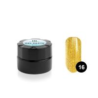 TNL, Гель-паста для дизайна ногтей №16, золотая, 6 мл