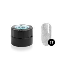 TNL, Гель-паста для дизайна ногтей №17, серебряная, 6 мл