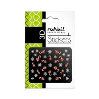 RuNail, Наклейки для дизайна ногтей 3D (Новогодние: цветные) 2057