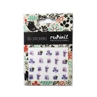 RuNail, Наклейки для дизайна ногтей 3D (мишки), №2061