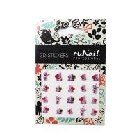 RuNail, Наклейки для дизайна ногтей 3D (мишки), №2062
