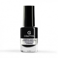 Grattol, Лак для стемпинга №02, Black (6,5 мл)