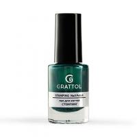 Grattol, Лак для стемпинга №09, Green Metal (6,5 мл)