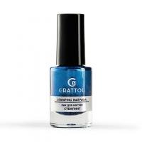 Grattol, Лак для стемпинга №10, Blue Metal (6,5 мл)