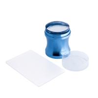 Кристалл Nails, Штамп для стемпинга большой металлический синий