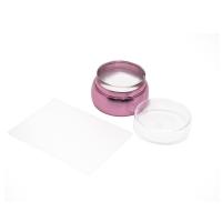 Кристалл Nails, Штамп для стемпинга плоский металлический  розовый
