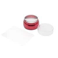 Кристалл Nails, Штамп для стемпинга плоский металлический красный
