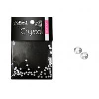 RuNail, Дизайн для ногтей, стразы, прозрачный, 1,5 мм, 50 шт, №1480
