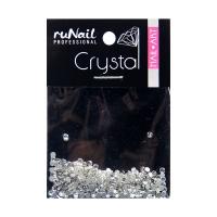 RuNail, Дизайн для ногтей, стразы, прозрачный, 1,5 мм, 288 шт, №4110